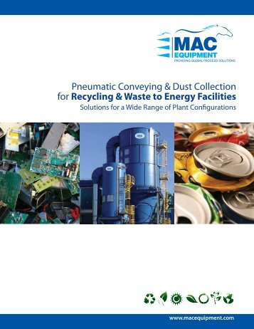 Pneumatic Conveying & Dust Collection For Recycling & Waste