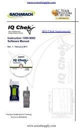 Bacharach IEQ Chek Software Manual - Actoolsupply.com