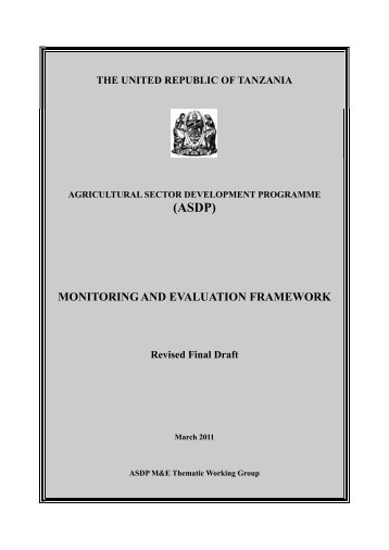(ASDP) - Ministry Of Agriculture, Food and Cooperatives
