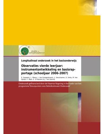 Goossens, E., Moens, L., Van Droogenbroeck, I., Verschueren, J ...