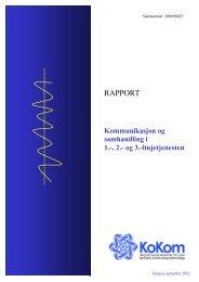 Rapport: Kommunikasjon og samhandling i 1.-, 2.- og 3 ... - KoKom