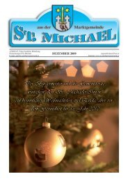 Gemeindezeitung Dezember 2009 - St. Michael in der Obersteiermark