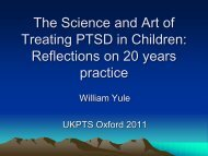 The Science and Art of Treating PTSD in Children ... - ukpts