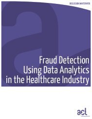 Fraud Detection Using Data Analytics in the Healthcare ... - Acl.com
