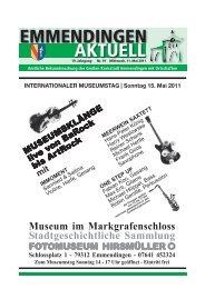 INTERNATIONALER MUSEUMSTAG | Sonntag 15. Mai 2011