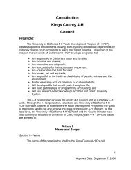 Constitution Kings County 4-H Council - University of California ...