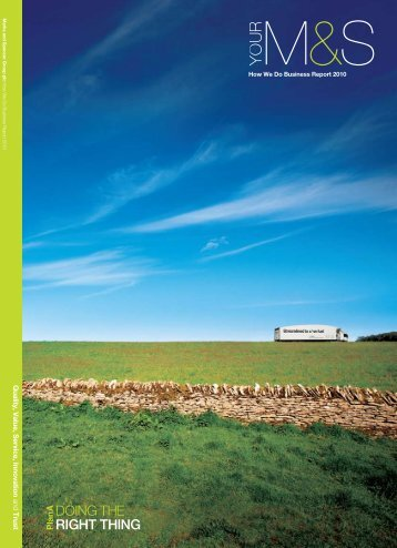 How We Do Business Report - Marks & Spencer