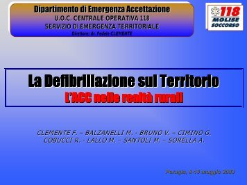 La Defibrillazione sul Territorio