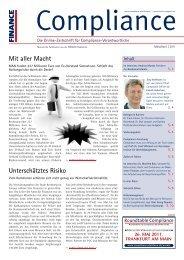 (PDF) | Ausgabe März/April 2011 - Compliance