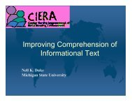 Improving Comprehension of Informational Text - the Center for the ...
