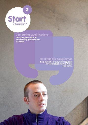 Comparing Qualifications Kvalifikacijų palyginimas - FIT