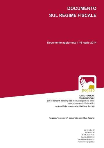 Documento sul regime fiscale - Fondo Pegaso