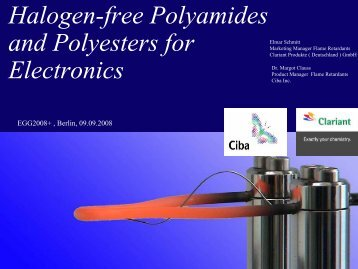 Halogen-free Polyamides and Polyesters for Electronics - Flame ...