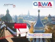 Bildung/Wissenschaft/Innovation - GEWA-Messe