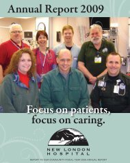 Annual Report 2009 - New London Hospital