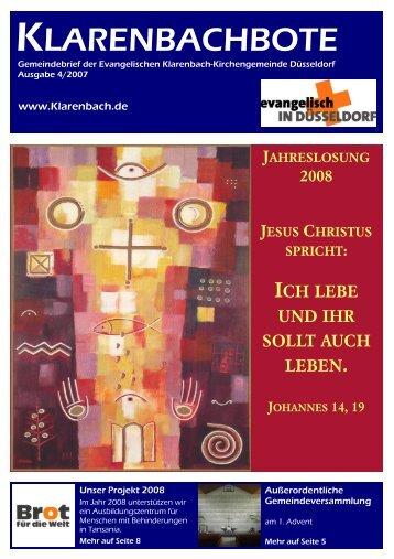 Klarenbachbote 4.07 - Evangelische Klarenbach-Kirchengemeinde