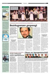 Bezirksgrenzen gesprengt - Tiroler Bauernbund