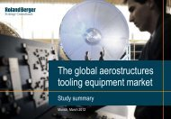 The global aerostructures tooling equipment market - Roland Berger