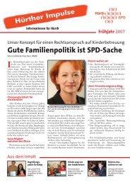 Hürther Impulse März 2007 - SPD Ortsverein Hürth