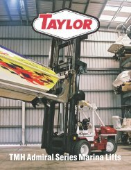 TMH Admiral Series Marina Lifts - Taylor Machine Works
