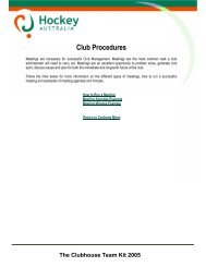 The Clubhouse Team Kit 2005 Club Procedures - SportingPulse