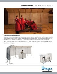 Wenger Travelmaster Acoustical Shell - Product Sheet