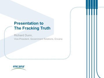 Presentation to The Fracking Truth