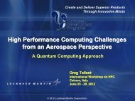 High Performance Computing Challenges from an Aerospace ...