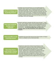 What is eCollege and eLearning Ontario? - Windsor-Essex Catholic ...