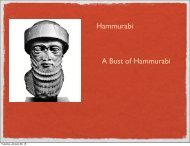 Hammurabi A Bust of Hammurabi
