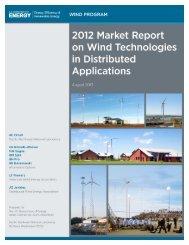2012 Market Report on U.S. Wind Technologies in ... - Wind Program