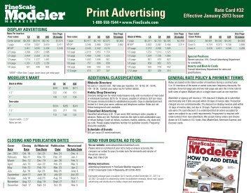 FineScale Modeler 2013 Rate Card
