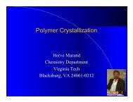 polymer crystallization - Virginia Tech