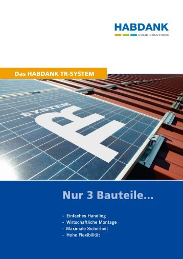 Nur 3 Bauteile... - Habdank-PV