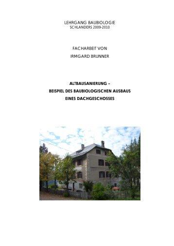 beispiel des baubiologischen ausbaus eines dachgeschos