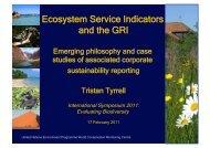 Mr. Tristan Tyrrell (UNEP- World Conservation Monitoring Centre)