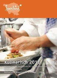 Kulinarisch 2011 - Tourismus Zentrale Saarland