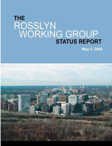 Rosslyn Working Group Status Report - Arlington Sites