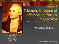 Triumph, Collapse of Jeffersonian Republicanism 1800-24
