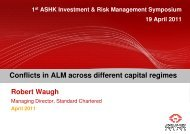 Conflicts in ALM across different capital regimes - Actuarial Society ...