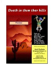 Wild West Murder Mystery Kit - Mysteries on the Net