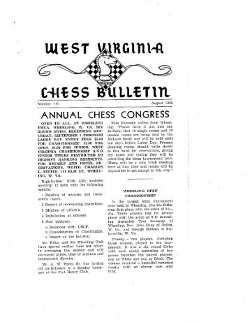 Bulletin 117 - West Virginia Chess Association