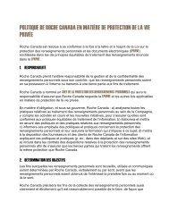politique de roche canada en matière de protection de la vie privée