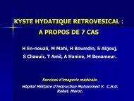 KYSTE HYDATIQUE RETROVESICAL : A PROPOS DE 7 CAS