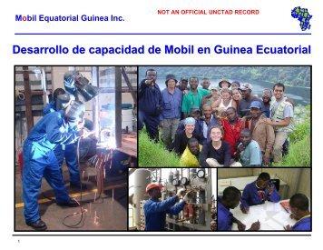 Mobil Equatorial Guinea Inc. - Unctad XI