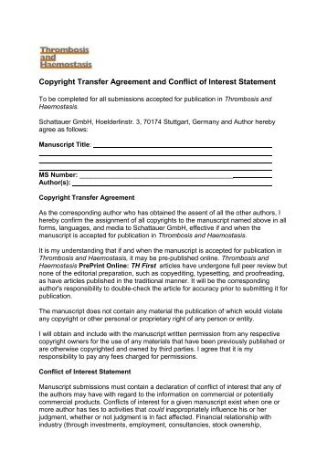 Copyright Transfer And Author Agreement The Journal Of Bone
