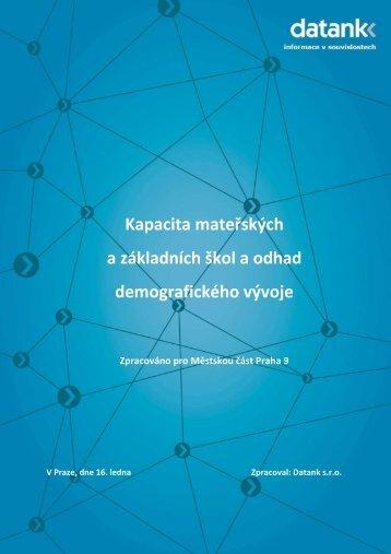 Analýza kapacit mateřských a základních škol v Městské ... - Praha 9