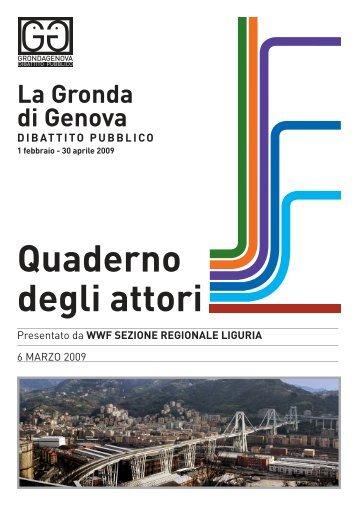 Quaderno inviato da WWF sezione regionale Liguria - Urban Center