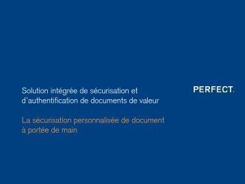 Diapositive 1 - Perfect SA