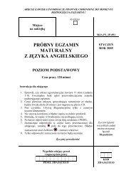 próbny egzamin maturalny z języka angielskiego - dlaStudenta.pl